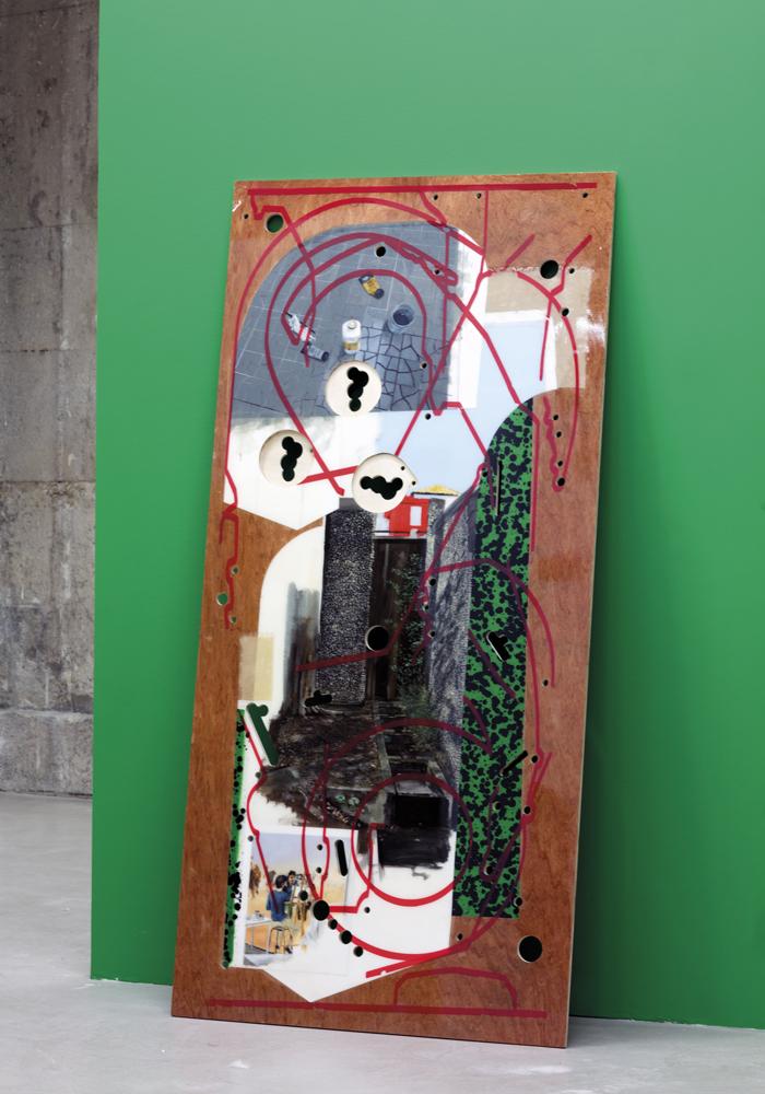 collectionneurs-art-galerie-de-la-marine-nice-Johan-Christ-Bertrand-(Prix-Venet-Foundation)-Pintball-Playfield,peinture-et-resine-sur-contreplaque-184x88cm-2018