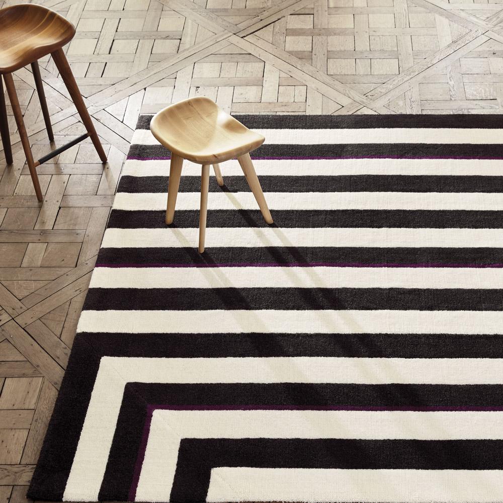 manufacture-cogolin-tapis-Four-Corners-by-Jason-Miller_Flagstaff-tapis-noir-blanc-zoom