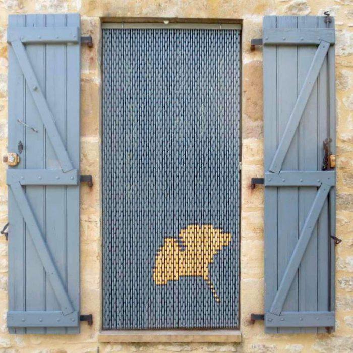 Rideaux-en-Perles-de-Buis-1909-feuille-de-ginkgo-naturel-fond-gris-chine