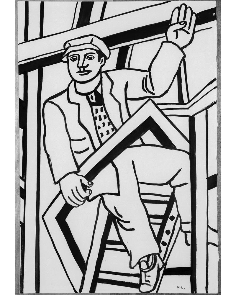 cote-culture-expos-hiver-musee-fernand-leger-biot-dessinez-d'abord-Personnage-cadre-Constructeurs-1950