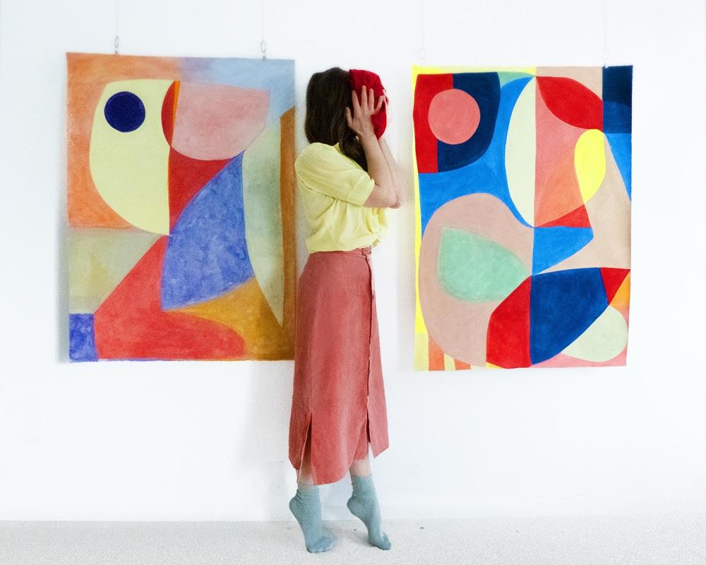 Galeries-d'art-Provence-Double-V-Gallery_Caroline-Denervaud-Vue-d'Atelier-Paris-2019