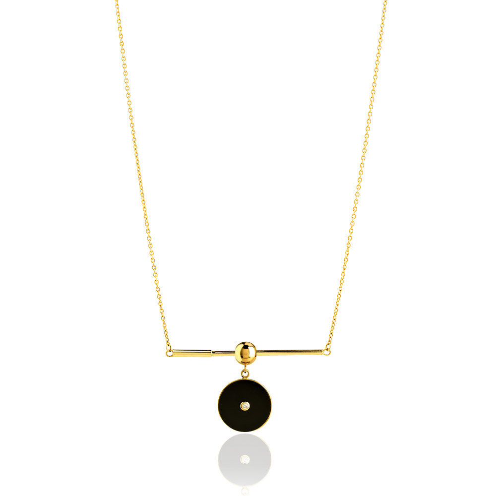 Vitrine-bijoux-made-in-sud-noel-mineral-joaillerie-COLLIER-NEW-TALISMAN-Pi-NOIR