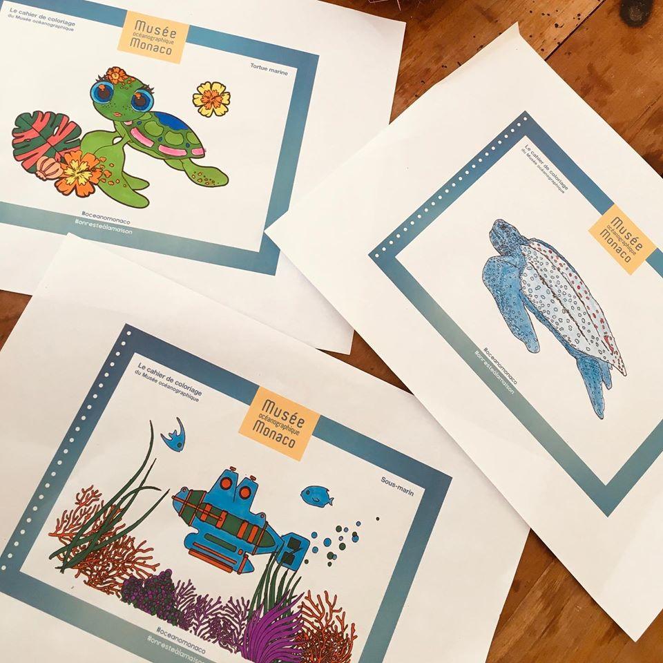 Musee Oceanographique Monaco planches coloriage enfants