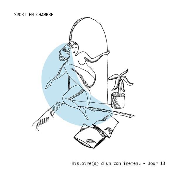 histoire(s)-d'un-confinement-chroniques-eric-foucher-illustrations-marie-de-buttet sport en chambre