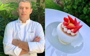 Pavlova aux fraises par Anthony Le Gouez, nouveau chef pâtissier du Cap Antibes Beach Hotel