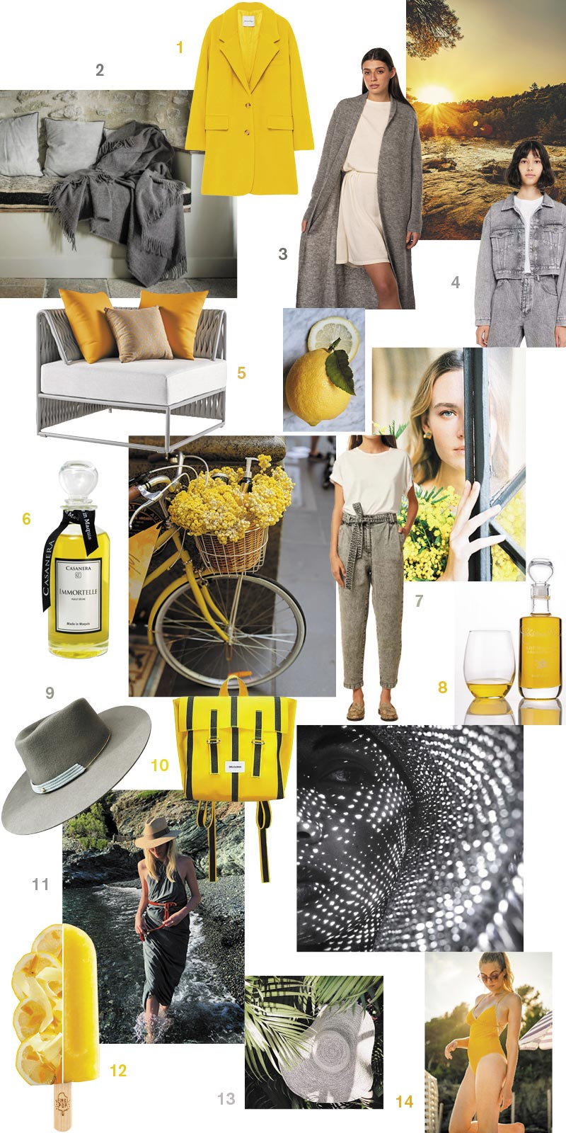 Collage mode & lifestyle couleurs Pantone 2021 Ultimate Gray et Illuminating