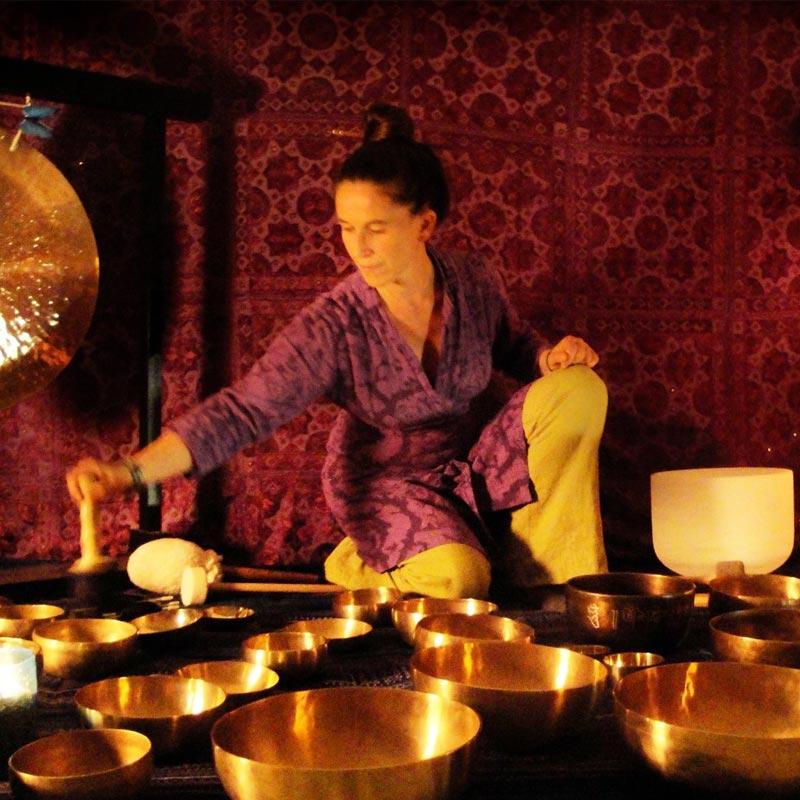 Les ateliers à La Fontaine de l'Aube bol tibétain