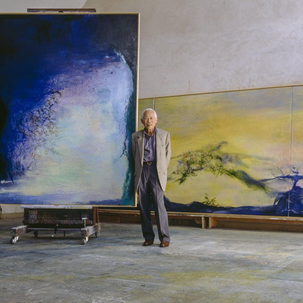 Culture-printemps-2021-Zao-Wou-Ki-dans-son-atelier-de-campagne-vers-2000,-devant-11.08