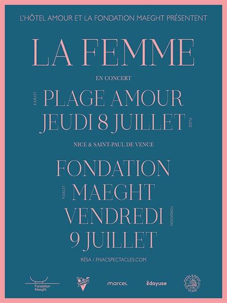 Pink AMOUR NICE - POSTER - LA FEMME