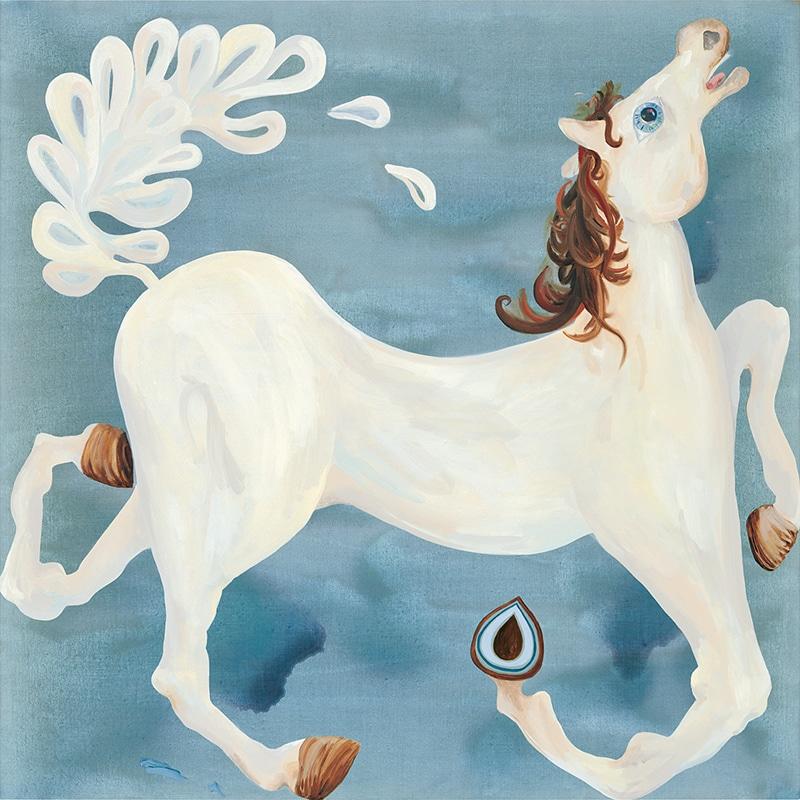 Sudnly-mag-expositions et événements culture été 2021-Laura Owens, Untitled [sans titre], 2004. Acrylique et huile sur lin. Moore Family Collection.