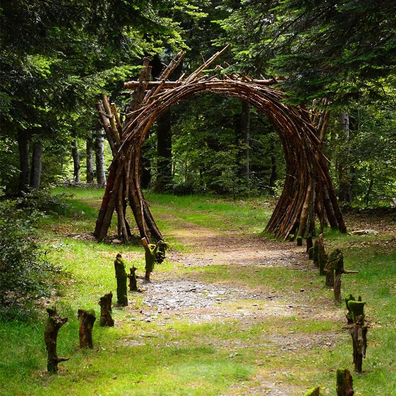 Sudnly-mag-Cévennes, sur le chemin d'Atelier Tuffery-LAND ART SUR LE MONT AIGOUAL