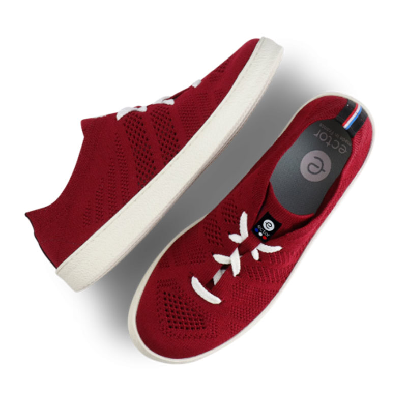 sudnly-sneakers-eco-responsables-ECTOR-Modèle-Bourgogne